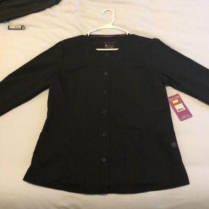 Purple Label Black Snap Front Warm Up Jacket
